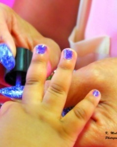 "Fingernail painting on photo of ""Glitzy Pritzy"" Site, http://www.GlitzyPritzy.com, located in Concord, NC"
